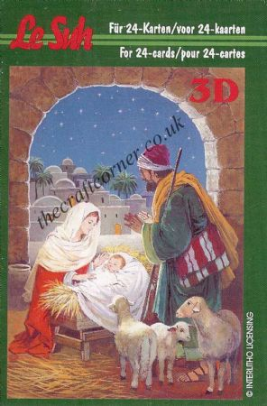 Christmas Crib Mini 3D Decoupage Book from Le Suh